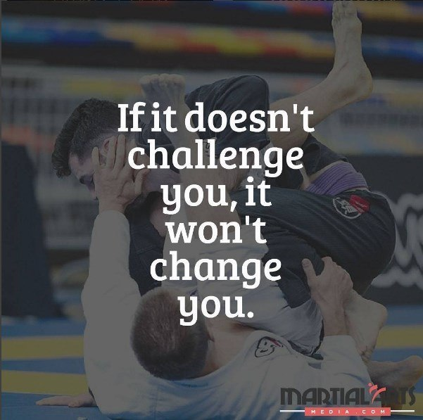 Top 50 inspirational quotes from martial arts schools and martial martial arts school guardeiros bjj quote if it doesnt challenge you it doesnt change you fred devito instagram guardeiros xx voltagebd Image collections